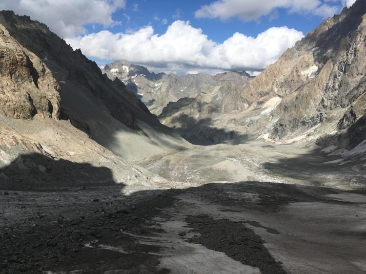 Montée par le Glacier Noir